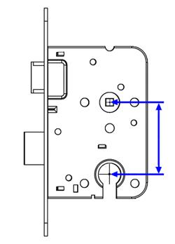 Het opmeten van een slot  Van hart cilinder naar hard kruk is de PC maat