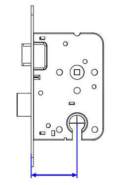 Het opmeten van een slot  Van hart cilinder naar buitenkant voorplaat is een doornmaat